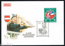AUSTRIA 1 BUSTA PRIMO GIORNO FDC TRATTATO DI STATO 1980