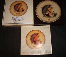 Vintage 1981 Goebel W. Germany Hummel Umbrella Boy Annual Collector Plate Box