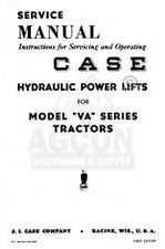 Case VA Hydraulic Power Lift Tractor Service Manual