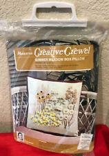 Erica Wilson Hiawatha Creative Crewel Box Pillow Kit 7053 Summer Meadow New