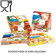 200 scatole asporto porta pizza cm.30x48x3 cartone in pura cellulosa alimentare