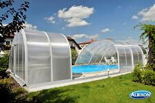 Schwimmbeckenüberdachung Poolüberdachung Monaco Future PK 8 mm vormontiert