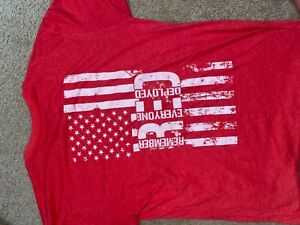 STARBUCKS GRUNT STYLE T-Shirt in Red. SIZE M Support The Troops