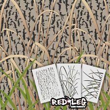 """Redleg Camo Stencils GK5 3 Piece Grass Wetland camouflage Stencil kit 12""""x9"""""""