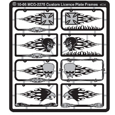 MODEL CAR GARAGE Custom Licence Plate Frames Detail Set 1/25 Cars & MCG2278-W
