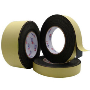 1/2/3mm Single Sided Self Adhesive Sponge Door Strip Seal Black EVA Foam Tape