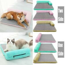 Corduroy Mattress Pet Bed Mat Lounge Sofa Pillow Cushion For Small Large Dog Cat