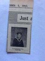 c7-2 ephemera 1915 ww1 picture r g campbell r n falmouth