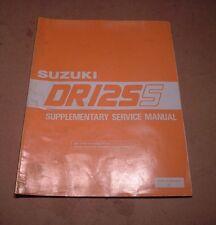 SUPPLEMENTARE SUZUKI MANUALE OFFICINA DR125 DR125S DR 125 99501 41070 01E