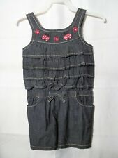 Gymboree Toddler Girls Chambray 1 Piece Romper-3T-Lady Bug Design-Shorts