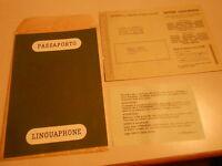 pubblicita' PASSAPORTO LINGUAPHONE - LA FAVELLA - vintage COLLEZIONE