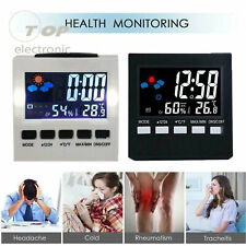 Digital Display Thermometer Humidity Alarm Clock Colorful LCD Calendar Weather