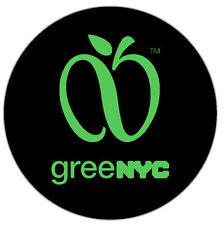 2 GREENNYC - TLC STICKER FOR ALL TLC HYBRID CARS - UBER - LYFT - GREEN NYC LOGO