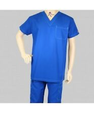 Reina Men Women Unisex Large Reg Galaxy Blue Medical Uniform Scrub Set 1018 Mike