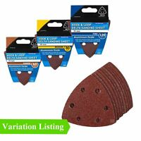 Hook and Loop 93mm Delta Sanding Sheets Triangular Detail Sandpaper Pads
