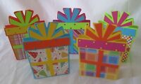 Handmade BIRTHDAY GIFT BOX CARD Blank Inside Set of 5 Cards