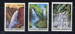 s2425) GREECE 1988 MNH** Nuovi** Falls 3v coil
