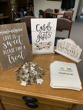 Wedding Kit 3table Signs 110 New Bags And 23 Unused Bells