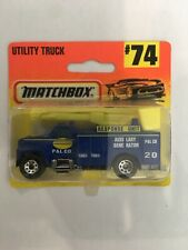 Matchbox New In Blister Pack Utility Truck #74 Blue In Colour