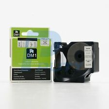 "1PK Black on Clear Tape Label Compatible for DYMO 53710 D1 24mm 7M 1"" X 23'"