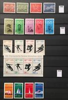 102 Sport Stamps  MNH Germany Collection,Lot of 40 Years1960 to 2000.