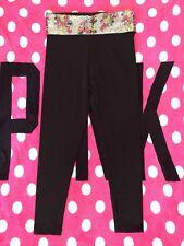 Victorias Secret PINK Yoga Pant Black With Sequins Medium NWT