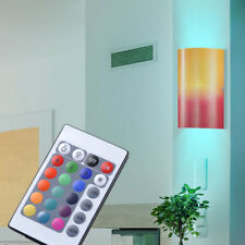 DESIGN LED Lumière murale intensité variable verre rouge / orange RGB