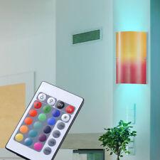 diseño Lámpara de pared LED regulable cristal rojo anaranjado RGB CONTROL REMOTO