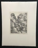 A. Paul Weber, Rübenfuhre, aus dem Nachlass, Lithographie, 1980, Signaturstempel