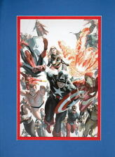 CAPTAIN AMERICA INVADERS AVENGERS PRINT PROFESSIONALLY MATTED Alex Ross Art