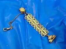 vintage POCKET WATCH FOB CHAIN with SIGNET SEAL KP antique