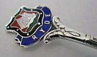 Solid Silver & Enamel Souvenir Spoon, RYDE, 1959