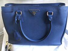 Prada authentic saffiano LUX handbag bauletto bluette  BN1874 Royal Blue