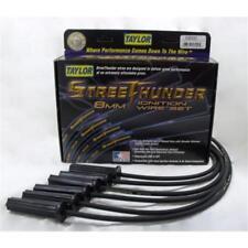 Taylor Spark Plug Wire Set 53000; Street Thunder 8mm Black for Chevy 6 Cylinder