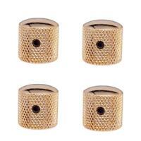 4 boutons de contrôle de tonalité volume guitare / basse boutons dorés