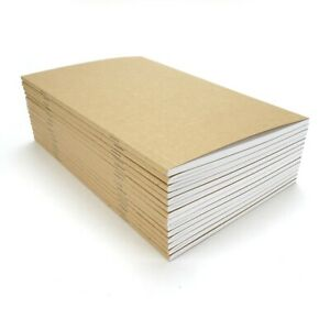 "Kraft Notebook, 5""x8.25"", Blank, Notes, Sketchbook, Journal, 72 Pages, (15 Pack)"