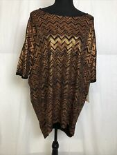 LuLaRoe Irma Black Metallic Short Sleeve T Shirt Size M NWT