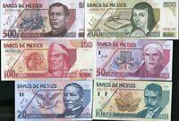 1986-1988 P-93a-94a SET Mexico 50000;100000 Pesos Rare Matching S//Ns A AA UNC