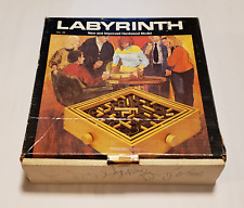 Vintage 1974 LABYRINTH by REISS Games - wood/hardwood w/ steel ball