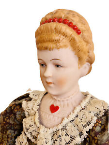 """China Head Doll With Heart Reproduction 20"""""""