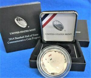 2014 Baseball Hall Of Fame Commemorative Proof Silver Dollar Coin W/Box NoCOA