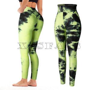 Womens High Waisted Ruched Lift Textured Scrunch Tiktok Butt Leggings Yoga Pants