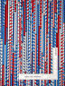 All American Patriotic Red White Blue Stripe Cotton Fabric Benartex By The Yard