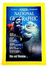 Vintage 1984 September National Geographic Dallas Iceland Glacier River Manatee