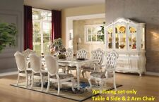 Tufted Rose Gold Upholstery Traditional Living Room Furniture 7piece Dining Set