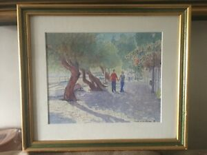 Framed Signed Picture James W Charwood I Think Its A Watercolour
