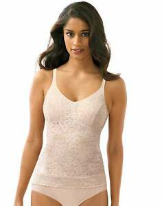 Bali Lace 'N Smooth Camisole Top Shapewear Firm Control Top Tank Shaper 8L12