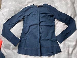 Sweaty Betty Breeze Long Sleeve Running Top Size XS Beetle Blue