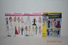 """Simplicity Pattern Lot of 3 11 1/2"""" DOLL CLOTHES BARBIE FASHION,4702 4719 7073"""