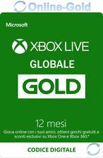 Abbonamento Xbox Live Gold di 12 mesi Microsoft Xbox One 360 - Codice globale